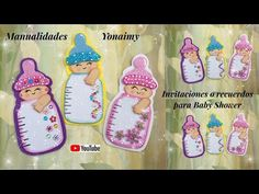 MANUALIDADES YONAIMY Bebe Shower, Youtube, Baby Shower Souvenirs, Felt Patterns, Jelly Beans, Invitations, Souvenir, Projects, Youtubers