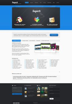 Superb - powerful wordpress theme • Download ➝…