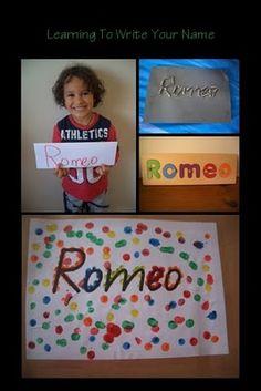 Fun Ways to Teach Your Child how to Write their Name