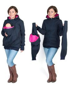 3 in 1 Kangaroo hoodie / jacket is made for carrying babies and toddlers depending on size and weight   BABY SLING OR CARRIER IS REQUIRED  REMEMBER, IT DOESNT REPLACE A BABY CARRIER  *******The model is 54 and weighs 132 lbs and is wearing size S/M in the picture :)********  FEATURES:  ➥ made of a polar fleece, suitable for Autumn/Winter ➥ there are 2 removable inserts 1. ONE when you want to carry your little angel:) 2. ONE when you are pregnant:) it adds extra 7 inches(20cm) in…