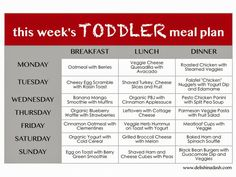 weekly menu planner for toddlers