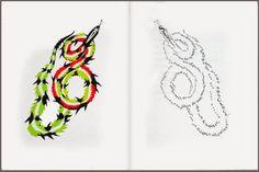 Jean Lurçat bestiary : semi-abstract gouache + lithograph
