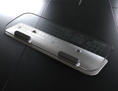Glass computer keyboard