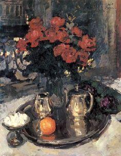 Konstantin Korovin, Roses and violets, 1912 on ArtStack Wholesale Picture Frames, Roses And Violets, Social Art, Classic Paintings, Impressionist Art, Rose Art, Painting Frames, Flower Art, Still Life