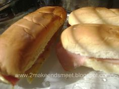 2 Make Ends Meet: Ham & Cheese Melts with Poppyseed Mustard Sauce
