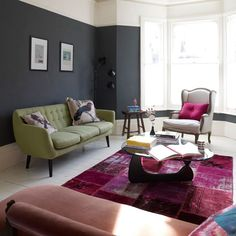... South Shore Decorating, Colorful Living Rooms and Living Room Interior