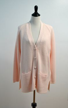 SALE SALE Oversized Pink Cardigan Sweater / by PimpernelVintage