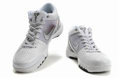 quality design f7774 e4fe0 Nike Zoom Kobe 4 (IV) White Grey Black Shoes