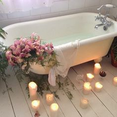 """Indulge in candle-lit, festive """"me time."""""""