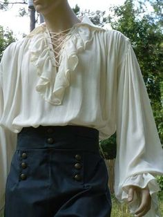 This Poet Shirt Musketeer Shirt Renaissance Pirate Ruffled, Lace Up Front Shirt Adult Made to Order is just one of the custom, handmade pieces you'll find in our shirts & tees shops. Costume Renaissance, Renaissance Pirate, Renaissance Shirt, Renaissance Clothing, Mode Outfits, Fashion Outfits, Fashion Shirts, Gothic Fashion, Victorian Fashion
