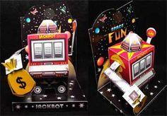 Jackpot 'Jackbot' #papertoy #robot #red