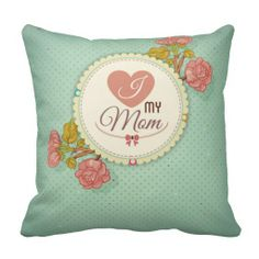 Retro mother's day flower pattern pillow