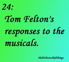 The Little Starkid Things #TomFelton