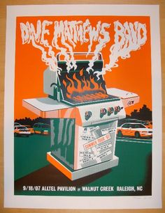 2007 Dave Matthews Band - Raleigh Concert Poster by Methane