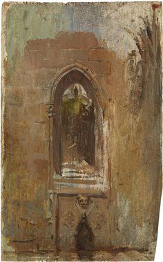 1896-Claustro de la catedral de Barcelona