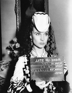 Vivien Leigh in costume as Scarlett O'Hara for Gone With the Wind
