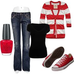 cute idea with the stripey cardigan! colors and comfort level are perfect!