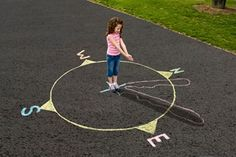 Human Sundial on crayola com is part of Shadow lessons - What does the shadow know If it's a shadow across a sundial, it knows the time of day Experiment with shadows and timekeeping with Crayola Giant Sidewalk Chalk 4th Grade Science, Preschool Science, Teaching Science, Science For Kids, Earth Science, Teaching Kids, Kids Learning, Science Fun, Physical Science