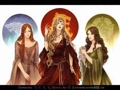Sansa Stark, Cersei Lannister, Margaery Tyrell