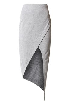 SEEN+IT+ALL+Wrap+Maxi+Skirt+-+High+waisted+casual+skirt+by+Finders+Keepers+made+from+soft+stretch+jersey+in+marble+grey.+A+comfy+yet+sexy+pice+with+wrap+design+and+asymmetric+hem.