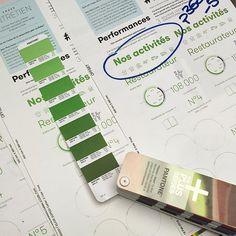 Test printing for 2014-15 @elior_group Activity Report, with Sopedi _ #testprint #heidelberg #printisnotdead #munkenpolar #pantone #green
