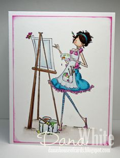 Uptown Girl Abigail the Artist - image from stamping bella