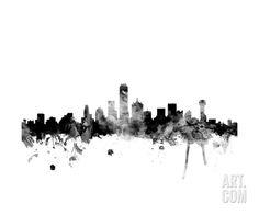 Dallas Texas Skyline Photographic Print by Michael Tompsett at Art.com