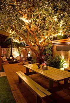 outdoor seating lighting ideas