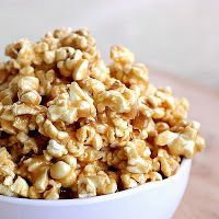 Peanut Butter Popcorn. I bet this would be even better with chocolate drizzled on top!