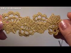 (6) Брюггское Ленточное Кружево Изысканно красиво - YouTube Crochet Edging Patterns, Crochet Diagram, Filet Crochet, Crochet Stitches, Crochet Flowers, Crochet Lace, Crochet Necklace Pattern, Lace Tape, Bruges Lace