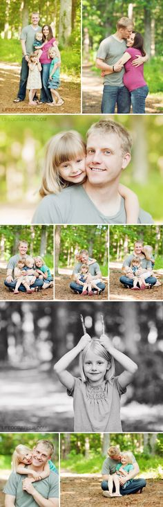 Cute father-daughter poses