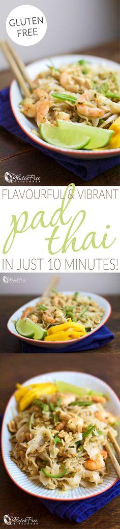 I LOVE Pad Thai! This recipe is quick, easy, and super tasty!   #glutenfree #vegetarian #celiac #coeliac #healthy #healthyfood