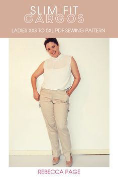 a97e6ce7e28 We need pockets for all the things and this ladies cargo pants. Plus Size  ...