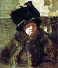 Илья Репин. Портрет писательницы Наталии Борисовны Нордман-Северовой, жены художника. 1911.