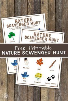 Nature Scavenger Hunt Printable                                                                                                                                                                                 More