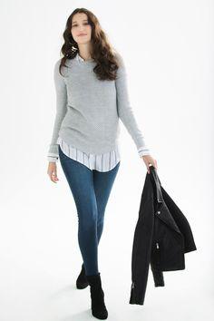 990af376c71 Suzy Shier Shaker Stitch Sweater