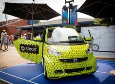 smart at the #USOpen #smartcar