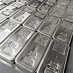 100 oz Republic Metals RMC Cast Silver Bars Fine Silver Bullion Ingot… --How does up to Off your Next Vacation sound to you?--Click the photo for more information Gold Bullion Bars, Bullion Coins, Silver Bullion, Troy, Silver Ingot, Silver Metal, Heavy Metal, Images Esthétiques, Aesthetic Colors