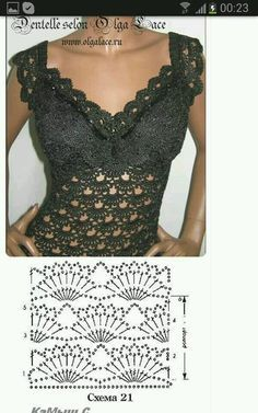 Captivating Crochet a Bodycon Dress Top Ideas. Dazzling Crochet a Bodycon Dress Top Ideas. Crochet Skirts, Crochet Blouse, Crochet Clothes, Irish Crochet, Crochet Lace, Crochet Stitches, Mode Crochet, Crochet Summer Tops, Crochet Tops