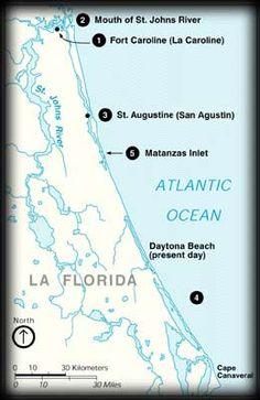 Map of the North Florida Coast
