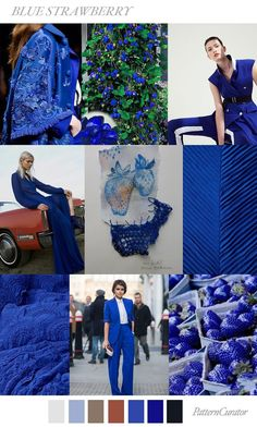 FASHION VIGNETTE: TREND | PATTERN CURATOR -2019 BLUE STRAWBERRY . SS 201...