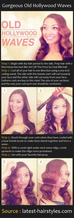 Gorgeous Old Hollywood Waves | Pinterest Tutorials (diy hair waves ideas)