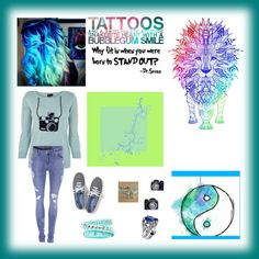 """""""Tattoos and a switchblade attitude, snakebite heart with a bubblegum smile..;)"""" by surrealstarr on Polyvore"""
