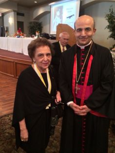 Joann Reed with Bishop Zaiden