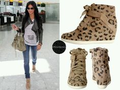 Leopard Wedge Sneakers by Rebecca Taylor.never wanted sneakers so much :) Leopard Sneakers, Leopard Wedges, Wedges Outfit, Sneaker Outfits, Sneakers Mode, Sneakers Fashion, Casual Outfits, Cute Outfits, Sexy Outfits