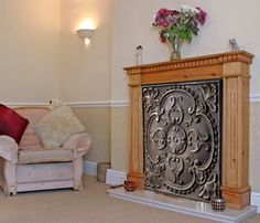 Insulated Decorative Magnetic Fireplace Covers - Fireplace Fashion ...