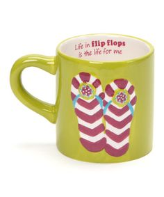 Take a look at this Green Flip-Flop 20-Oz. Mug by Dennis East International on #zulily today!