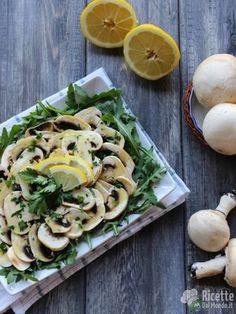 Ricetta carpaccio di funghi champignon