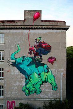 Street art in Lodz, Poland