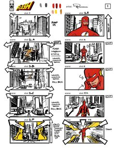 Unseen Concept Art And Storyboards From The 'Flash' Video Game That Never Was